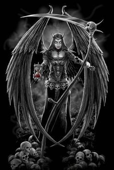 Grim Reaper:I have always been intrigued with The Grim. Description from pinterest.com. I searched for this on bing.com/images