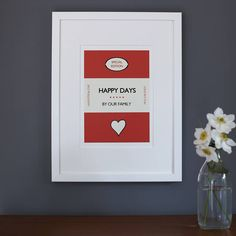'Happy days' framed print by catherine colebrook | notonthehighstreet.com