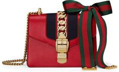 deb03233bc26 Sylvie leather mini chain bag Shoulder Handbags, Gucci Shoulder Bag, Red Shoulder  Bags,