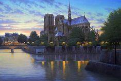 Estas belas pinturas de Alexey Butyrsky capturam perfeitamente as ruas de Paris, Veneza e São Francisco! Confira como são lindas!