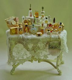 Doll House Miniature Ladies Victorian Perfumes
