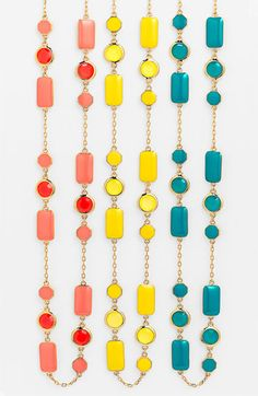 kate spade new york 'pop palette' long station necklace available at #Nordstrom