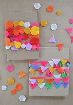#DIY a mini felt garland to use as streamers, wrappers, and more!