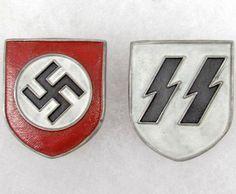 German Ss Badge Set of 2 german nazi ss helmet Luftwaffe, Photo Memories, D Day, Pin Badges, World War Two, Wwii, Warriors, Helmet, Socialism