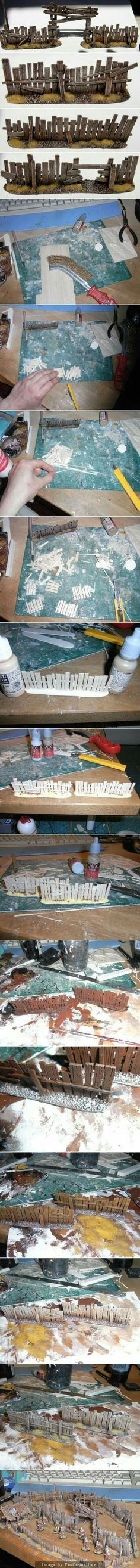 Fence wood diorama model basis #modeltrains