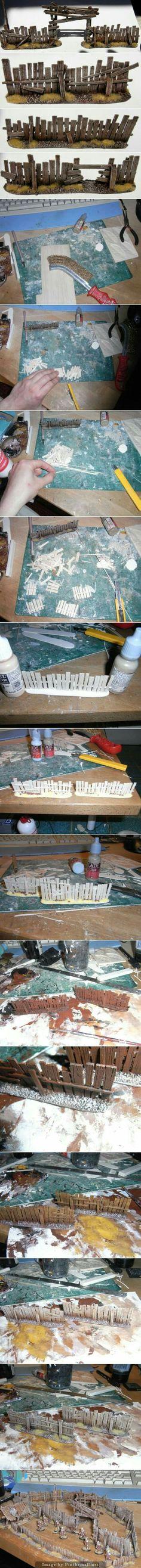 Fence wood diorama model basis #modeltrains