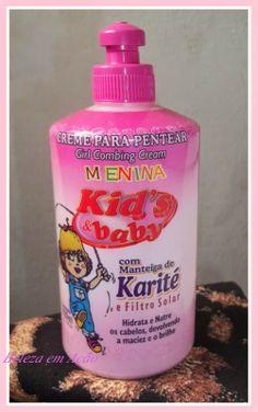BELEZA EM AÇÃO: Creme de pentear para Cachos infantis + Penteado p...