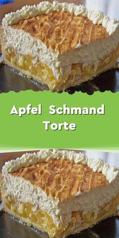 Apfel – Schmand – Torte - Zutaten: 175 g Butter 160 g Zucker 200 g Mehl 1 T. - Apfel – Schmand – Torte – Zutaten: 175 g Butter 160 g Zucker 200 g Mehl 1 TL Backpulver 1 Ei - Fancy Desserts, Apple Desserts, Italian Desserts, Apple Sour Cream Cake, Apple Cake, Illustration Dessert, Chocolate Tres Leches Cake, Biscuits, Torte Recipe