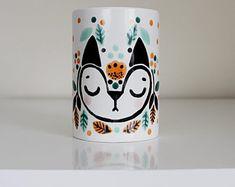 Fox Plant Pot/Fox Toothbrush Holder/Fox Mug Painted Coffee Mugs, Painted Pots, Hand Painted, Paint And Sip, Terracotta Pots, Toothbrush Holder, Potted Plants, Diy And Crafts, Kids Room