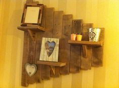 Decorative Pallet #Wall #Shelf - 12 DIY Upcycled Pallet Projects Try out at Home | 99 Pallets