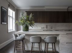 46 Beautiful Luxury Kitchen Design Ideas To Get Elegant Look - In the event that you imagined that luxury kitchen cupboards are just the benefit of the rich, first-class and superstars you're mixed up. Luxury Kitchen Design, Best Kitchen Designs, Luxury Kitchens, Interior Design Kitchen, Cool Kitchens, Kitchen Furniture, Furniture Design, Bedroom Furniture, Kitchen Decor