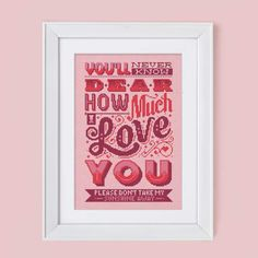 How Much I Love You Cross Stitch Pattern Digital by Stitchrovia