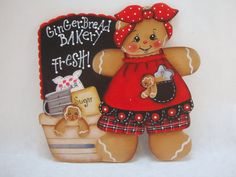 HP Gingerbread Fridge Magnet - Gingerbread Bakery