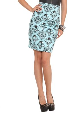 #hottopic.com             #Skirt                    #Rock #Steady #Nikki #Mustache #Pencil #Skirt #Topic                          Rock Steady Nikki Mustache Pencil Skirt | Hot Topic                           http://www.seapai.com/product.aspx?PID=137155