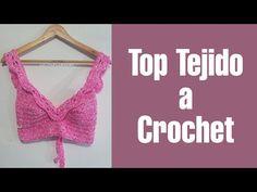Tops Tejidos A Crochet, Top Crop Tejido En Crochet, Knit Crochet, Crop Tops, Tank Tops, Crochet Necklace, Camisole Top, Knitting, Bikinis