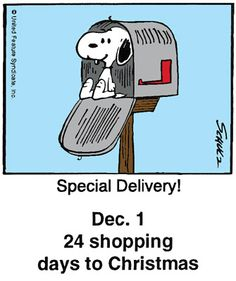 - This is a classic countdown panel from 2002 Christmas Comics, Peanuts Christmas, Charlie Brown Christmas, Charlie Brown And Snoopy, Christmas Humor, Snoopy Cartoon, Peanuts Cartoon, Peanuts Snoopy, Cartoon Art