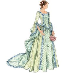 Plus Size Victorian Costume Pattern, Sewing Pattern, Steampunk Costume, Victorian Wedding Gown McCall's 6097 Sizes 14, 16, 18, 20 uncut