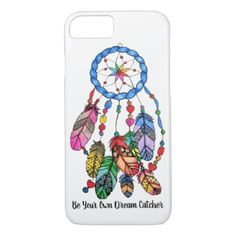 Watercolor gorgeous rainbow dream catcher iPhone 8/7 case - diy cyo customize create your own personalize