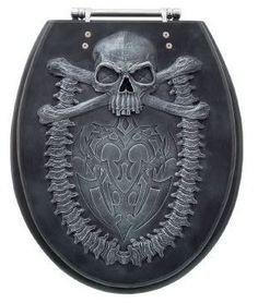Skull toilet seat
