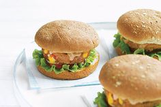 Taco seasoning within and chunky salsa and shredded cheese on top give these extra-lean ground beef burgers their Southwestern appeal.