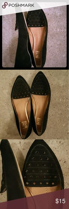 Dolce Vita perforated black suede flats DV perforated black suede flats. Pre-loved, but has lots of life left in them. Size 8. Very beautiful,  comfortable  shoes. Make me an offer! DV by Dolce Vita Shoes Flats & Loafers