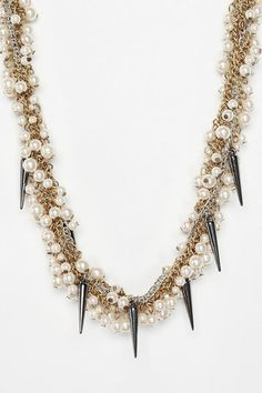 UO Pearl and Spike Choker Necklace $34