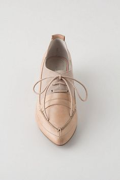 So pretty...Champagne Heeled Loafers- Anthropologie