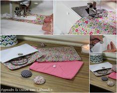 Apprendre la couture avec Lalouandco : la pochette à fille [projet à coudre] #patron