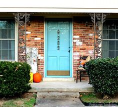 Add Painted House Numbers to Your Front Door