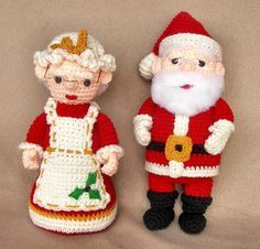 Santa+and+Mrs+Claus++Crochet+Pattern+by+WolfDreamerOTH+on+Etsy,+$8.00