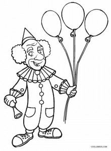 Printable Clown Coloring Pages For Kids | Cool2bKids | Circus ...