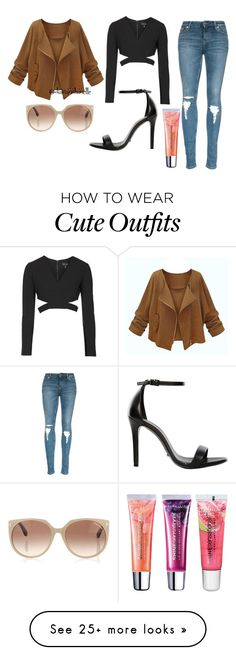 """Cute Dressy Outfit"" by diavianshanelle on Polyvore featuring Topshop, Schutz, Tom Ford, Maybelline, women's clothing, women's fashion, women, female, woman and misses"