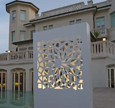 Lazer cut partition with interior lighting