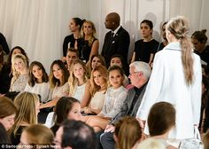 Star-studded: Actress Ashley Tisdale, model Dylan Frances Penn and Miss USA 2012 champion ...