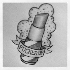 lipstick tattoo.. maybe do as MAC
