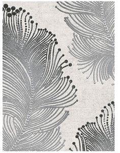 Modern Wallpaper Scribble Black Silver Textured Shiny