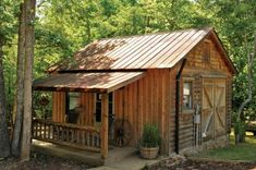 Tiny Shed Homes | small 'shed' houses a storage closet for the outdoor kitchen. Photo ...