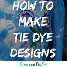 How to Make Tie Dye Designs | FaveCrafts.com