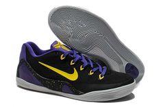 reputable site 62c74 fc362 Mens Nike Kobe 9 Low EM Purple Black and Gold