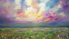 NEW Colourful Prairie Landscape Painting by Alberta Artist Melissa McKinnon