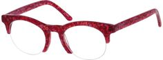Women's Red 1880 Acetate Half-Rim Frame | Zenni Optical Glasses-vyrA3zJL
