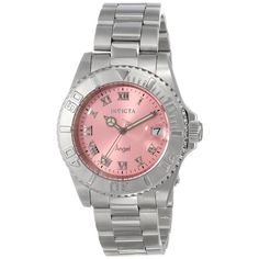 Invicta Women's 14360 'Angel' Pink Dial Stainless Steel Watch | Overstock.com Shopping - Big Discounts on Invicta Women's Invicta Watches