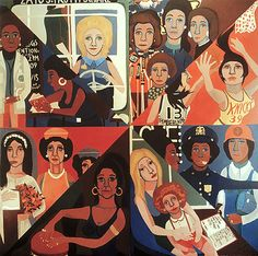 For the Woman's House, Faith Ringgold, 1971, Oil on canvas, 96 x 96 inches