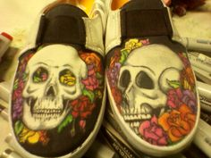 Skulls and roses, a Dia De Los Muertos theme but not exclusively, by No Paradigm Designs