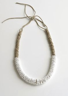 Kwasibita  by Chequita Nahar, 2010  necklace - porcelain, string