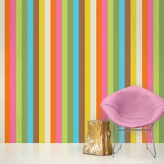 "Found it at Wayfair - French Bull Izzy 2.17' x 26"" Stripes Wallpaper"