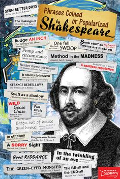 Phrases Popularized by Shakespeare -- This always surprises students!