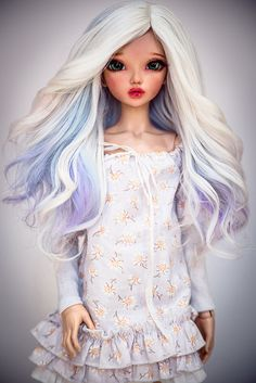 Frozen Waves by amadiz on DeviantArt Clay Dolls, Bjd Dolls, Barbie Dolls, Custom Monster High Dolls, Custom Dolls, Pretty Dolls, Beautiful Dolls, Enchanted Doll, Kawaii Doll