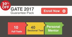 """""""There are no secrets to success. It is the result of #preparation, #hard work, and #learning from failure."""" #OnlineTestSeries can help you to score high marks in #Gate-2017 #Exam. Enroll Now and 30% Special #Discount"""