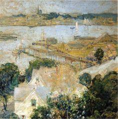 John Henry Twachtman (1853-1902)  Gloucester Harbor 1900